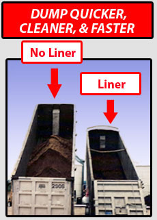 Liners for end dump applications